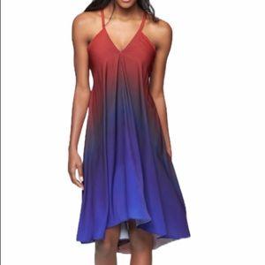 Athleta Dress Daytrip Halter Convertible Ombré (S)